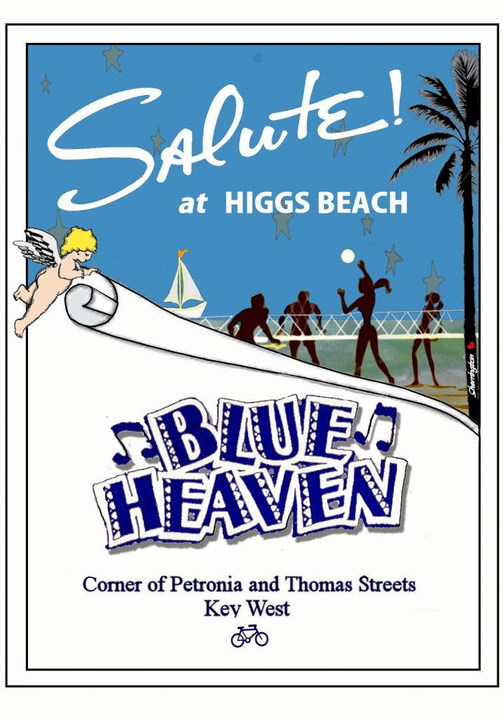 Meet us on the beach! Higgs Beach that is at Salute!